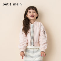 Jacket / leather PETIT MAIN female 15 light pink 41 army green 80cm 90cm 100cm 110cm 120cm 130cm Cotton blended fabric leisure time spring and autumn routine nothing Zipper shirt There are models in the real shooting other Class A Polyester 60.6% cotton 39.4% Autumn of 2018