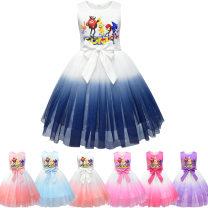 Dress 8010 pink, 8010 rose red, 8010 purple, 8010 blue, 8010 royal blue, 8010 peach powder, 8010 peach powder, white upper body female Other / other 130cm,120cm,150cm,140cm,110cm,100cm Other 100% summer princess 3 months