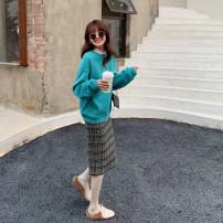 skirt Winter 2020 XXS,XS,S,M,L Chizhi, raspberry, girl powder, plaid Mid length dress Versatile High waist Type A 20D136 More than 95% hizz studio polyester fiber