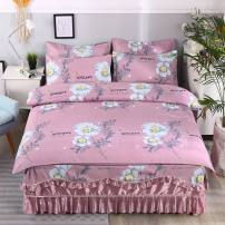 Bedding Set / four piece set / multi piece set spandex other Plants and flowers 133x72 Other / other cotton 4 pieces 40 1 2m bed skirt: (quilt cover 150 * 200cm), 1 5m bed skirt: (quilt cover 200 * 230cm), 1 8m bed skirt: (quilt cover 200 * 230cm), 2 0m bed skirt: (quilt cover 200 * 230cm) 100%