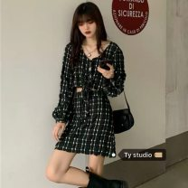 Fashion suit Autumn 2020 S, M Skirt, top 18-25 years old 51% (inclusive) - 70% (inclusive) cotton