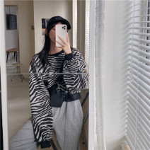 Sweater / sweater Spring 2021 Picture color Average size Long sleeves have cash less than that is registered in the accounts Socket singleton  routine Crew neck easy commute routine stripe 18-24 years old Korean version