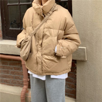 Cotton padded clothes Average size Winter 2020 Other / other routine Long sleeves thickening zipper commute stand collar routine Solid color Korean version 18-24 years old