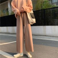 Casual pants Average size Winter 2020 trousers Wide leg pants High waist commute thickening 18-24 years old Korean version