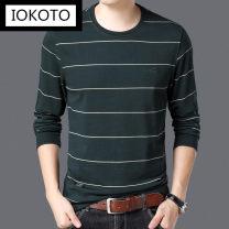 T-shirt Business gentleman Gdqe9728t green [long sleeve] gdqe9728t coffee [long sleeve] gdqe9728t red [long sleeve] gdqe9728t gray [long sleeve] gdqe9728t black [long sleeve] gdqe9728t white [long sleeve] thin 165 [suitable for 100 to 120 Jin] 170 175 180 185 190 IOKOTO Long sleeves Crew neck easy