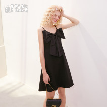 Dress Summer 2020 Enchanting black S,M,L Short skirt singleton  Sleeveless Sweet other middle-waisted Socket A-line skirt other 18-24 years old Type A Goblin's pocket bow 1020_ AL0216 More than 95% other princess
