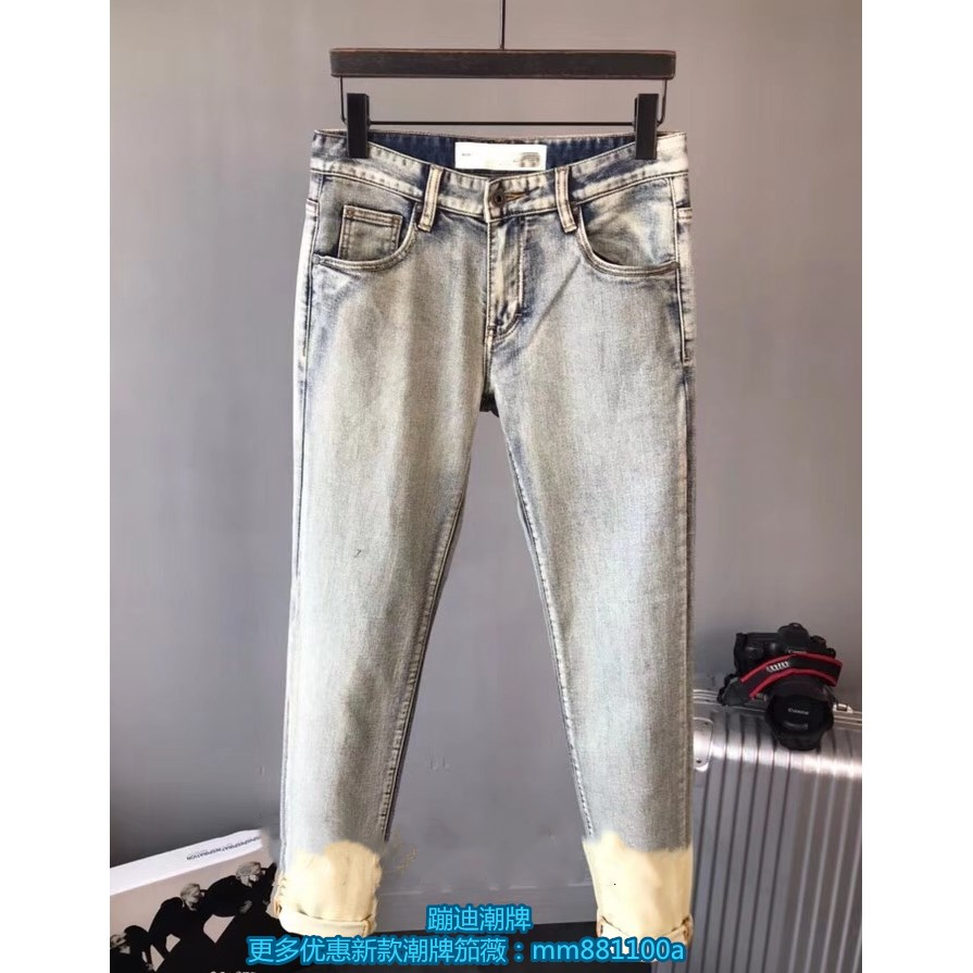 Jeans Youth fashion Others 28 29 30 31 32 33 34 36 Picture color 1 Ninth pants Other leisure 2018