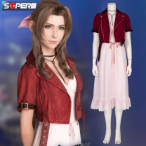 Cosplay women's wear suit Customized Over 14 years old 268 yuan for hair + neck + dress, 218 yuan for dark red coat, 450 yuan for full set, 218 yuan for light red coat Animation, original, film and television, games 50. M, s, XL, XXL, XXXL, customized Super man Europe and America Final fantasy series
