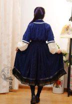 Custom made Hanfu Navy star elastic skirt M, L female A long dream