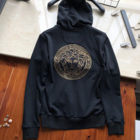 Sweater Fashion City Freddy black M,L,XL,2XL,3XL Medusa Cardigan Thin money Hood autumn Straight cylinder Travel? youth tide routine Fleece  Cotton 100% cotton Hot drilling No iron treatment More than 95% Side seam pocket Europe and America zipper