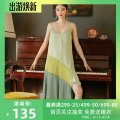 Nightdress Other / other Graph color 155(S),160(M),165(L),170(XL) luxurious camisole pajamas longuette summer Geometric pattern youth V-neck cotton lace More than 95% cotton 200g and below