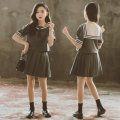 suit grey 120cm,130cm,140cm,150cm,160cm,170cm female summer Korean version Short sleeve + skirt 2 pieces Thin money There are models in the real shooting Socket nothing Solid color cotton children birthday Class B Cotton 90% polyurethane elastic fiber (spandex) 10% Chinese Mainland Zhejiang Province