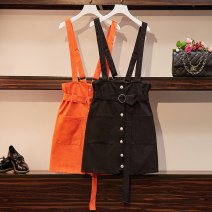 Women's large Autumn of 2019 Orange Black Suggestion: 2XL 160 ~ 185 kg, 3XL 185 ~ 205 kg, 4XL 205 ~ 230 kg, 5XL 230 ~ 300 kg, 6xl Other oversize styles singleton  commute easy moderate Solid color Korean version cotton Three dimensional cutting Essence of clothing 25-29 years old pocket Cotton 100%