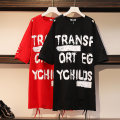 Women's large Summer 2020 Black red Suggestion: 2XL 160 ~ 185 kg, 3XL 185 ~ 205 kg, 4XL 205 ~ 230 kg, 5XL 230 ~ 300 kg, 6xl Dress singleton  commute easy thin Socket Short sleeve Korean version Crew neck Medium length Cotton others Three dimensional cutting routine Essence of clothing 25-29 years old