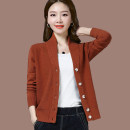 Wool knitwear Spring of 2019 S M L XL XXL XXXL 4XL Black red blue Caramel camel Navy Long sleeves singleton  Cardigan other More than 95% have cash less than that is registered in the accounts routine commute Straight cylinder V-neck routine Solid color Single breasted Korean version ZBM1961C