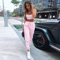 Fashion suit Summer 2020 S,M,L Black, pink 18-25 years old 20234P 81% (inclusive) - 90% (inclusive) polyester fiber