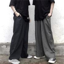 Casual pants Black grey S M L XL 2XL 3XL 4XL 5XL Spring 2020 trousers Wide leg pants High waist commute routine 18-24 years old 91% (inclusive) - 95% (inclusive) K5521 Jane Lena Korean version pocket cotton Cotton 95% polyurethane elastic fiber (spandex) 5% Pure e-commerce (online only)
