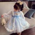 Dress Blue, pink female Mimihello 80cm,90cm,100cm,110cm,120cm,130cm,140cm Other 100% spring and autumn princess Long sleeves Solid color Netting Fluffy skirt TQ2110012 Class B 2, 3, 4, 5, 6, 7, 8, 9, 10 years old Chinese Mainland