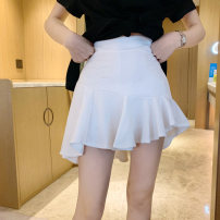 skirt Summer 2020 S M L Short skirt commute High waist Irregular Solid color Type A 18-24 years old 81% (inclusive) - 90% (inclusive) Looking for Jie polyester fiber Asymmetry Korean version Polyester 88% polyurethane elastic fiber (spandex) 12% Pure e-commerce (online only)