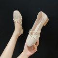Low top shoes 35,36,37,38,39,40 Other / other Square head PU Thick heel Middle heel (3-5cm) Shallow mouth PU Summer 2021 Frenulum Korean version Adhesive shoes Youth (18-40 years old) Solid color rubber Single shoes Shallow mouth, cross strap, thick heel, waterproof platform R89264 Face dressing