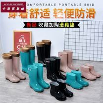 Rain shoes Other / other PVC Summer of 2018 PVC Netting TPR (tendon) Korean version Middle cylinder spring and autumn Injection pressure shoes