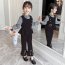 suit Princess waiwaiwai Pink Black 110cm 120cm 130cm 140cm 150cm 160cm female spring and autumn Korean version Long sleeve + pants 3 pieces routine There are models in the real shooting Socket nothing Solid color Expression of love WWGZ KXX593 Class B Other 100% Spring 2020 Chinese Mainland