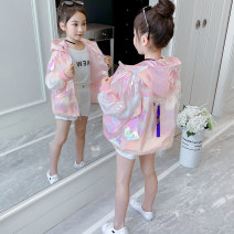 Plain coat Princess waiwaiwai female 110cm 120cm 130cm 140cm 150cm 160cm Pink summer leisure time Zipper shirt There are models in the real shooting Thin money No detachable cap other other other Other 100% Class B Summer 2020
