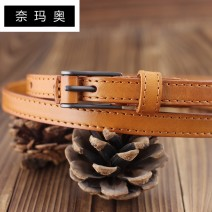 Belt / belt / chain top layer leather female belt Versatile Single loop Children: 1-6 years old, young, middle-aged and old Pin buckle Leather Wrap soft surface 1.2cm alloy Bare body frosting Namao 90cm 95cm 100cm 105cm 110cm Spring and summer 2011