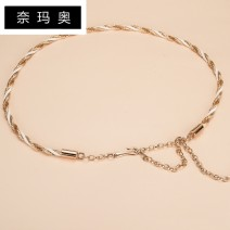 Belt / belt / chain Metal White, red, black female Waist chain Sweet Single loop Children, youth, middle age and old age a hook Round buckle Glossy surface 1cm alloy Namao 1cm Spring and summer 2011