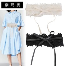 Belt / belt / chain other White black female Waistband Sweet Single loop Flower design soft surface 12cm Cut out LACE BOW LACE Namao YF-17 1cm Spring and summer 2011