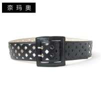 Belt / belt / chain top layer leather female Waistband grace Single loop Middle aged youth Pin buckle other Glossy surface 5.2cm alloy Namao 90cm 95cm 100cm 105cm Spring and summer 2011 yes