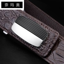 Belt / belt / chain top layer leather Brown Black male belt Versatile Single loop Young and middle aged Smooth button Leather decoration Glossy surface 3.3cm alloy alone Namao LU421CC7.25 105cm 110cm 115cm 120cm 125cm Spring and summer 2011 no