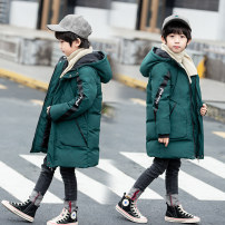 Cotton padded jacket male No detachable cap other Other / other Black, dark green, quality guarantee, light and comfortable, thickened and warm, highly recommended, go to school and go out, versatile and fashionable 110cm,120cm,130cm,140cm,150cm,160cm thickening Zipper shirt motion Solid color