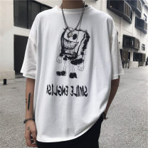 T-shirt Fashion City Black high quality, white high quality thin S,M,L,XL,2XL Others Long sleeves Crew neck easy daily summer teenagers routine Chinese style 2020 Non brand