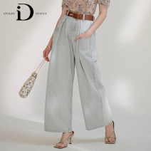 Jeans Summer 2020 Light blue (solid) XS S M L trousers High waist Wide legged trousers Thin money Cotton denim light colour EI03223024 STYLES ID STATUS 96% and above Cotton 100% Same model in shopping mall (sold online and offline)