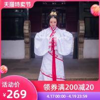 National costume / stage costume Autumn of 2018 Safflower porcelain S M L XL BX-HF14 Busch Cotton 62% polyethylene terephthalate (polyester) 35% polyurethane elastic fiber (spandex) 3%