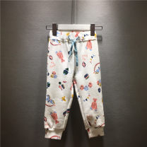 trousers jumping meters female 2T / 80, 3t / 90, 4T / 100, 5t / 110, 6t / 120, 7T / 130, 8t / 140, 8t length 69 White bear, pink bird, pink duckling, pink hedgehog spring and autumn trousers leisure time No model Sports pants Leather belt middle-waisted cotton Don't open the crotch Class A