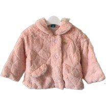 Cotton padded jacket female other Les enfants nothing Plush Zipper shirt Korean version Solid color No model in real shooting Class A other Polyester 100% Cotton 100% 12 months, 9 months, 18 months, 2 years old, 3 years old, 4 years old, 5 years old, 6 years old 66cm,80cm,90cm,100cm,110cm Pink, beige