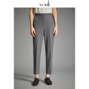 Suit pants / suit pants S M L grey Spring 2020 Straight cylinder middle-waisted trousers routine Self made pictures Wanli (clothing) lady Wool blended fabric Same model in shopping mall (sold online and offline) OL