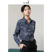 shirt S M L XL Spring 2020 other 96% and above Long sleeves Original design Regular square neck Single row multi button Hand painted 25-29 years old Straight cylinder Wanli (clothing) New polyester fiber 100% Same model in shopping mall (sold online and offline) Synthetic fiber
