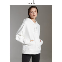 Sweater / sweater Spring 2020 Grey white black S M L Long sleeves routine Socket singleton  routine Hood easy commute Solid color 25-29 years old 91% (inclusive) - 95% (inclusive) Wanli (clothing) Simplicity cotton cotton Cotton liner Cotton 94% polyurethane elastic fiber (spandex) 6%