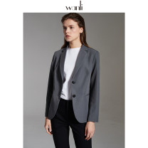 suit Spring 2020 grey S M L XL Long sleeves routine Self cultivation tailored collar Single breasted commute routine Solid color 25-29 years old 96% and above other Wanli (clothing) New polyester fiber 100% Same model in shopping mall (sold online and offline)
