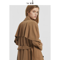 Windbreaker Autumn 2020 XS S M L Dark camel black Long sleeves have more cash than can be accounted for Wanli (clothing) 51% (inclusive) - 70% (inclusive) polyester fiber Polyethylene terephthalate (polyester) 63% viscose fiber (viscose fiber) 33% polyurethane elastic fiber (spandex) 4%