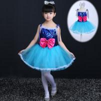 Children's performance clothes sky blue female 100cm 110cm 120cm 130cm 140cm 150cm 160cm Pamidine Class B BMD031 Polyester 80% other 20% 3 years old, 4 years old, 5 years old, 6 years old, 7 years old, 8 years old, 9 years old, 10 years old, 11 years old, 13 years old, 14 years old Autumn of 2018