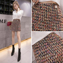 skirt Autumn of 2019 S M L XL colour Short skirt commute High waist A-line skirt Decor 18-24 years old More than 95% Wool AI Fanzhe polyester fiber Korean version Polyester 100% Exclusive payment of tmall