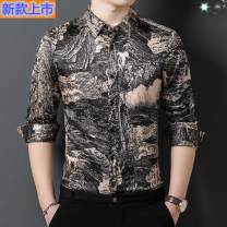 shirt Youth fashion My 100% 165/M,170/L,175/XL,180/2XL,185/3XL,190/4XL Wd211812 yellow, wd211813 dark green, wd211814, wd211815, wd211816 yellow flower, wd211811 black square, wd211810 m white, wd211809 green, wd211803 green bar, wd211802z purple red Thin money Windsor collar Long sleeves Extra wide