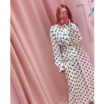 Dress Spring of 2018 Picture color S,M,L longuette singleton  Long sleeves commute Crew neck middle-waisted Socket other other Others Type H Korean version
