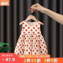 Dress Red yellow female Tongldanche / bike of the same age 80cm 90cm 100cm 110cm 120cm Other 100% summer Korean version Skirt / vest Dot cotton A-line skirt FLY19 other Summer 2021 12 months, 6 months, 9 months, 18 months, 2 years, 3 years, 4 years, 5 years, 6 years, 7 years, 8 years Chinese Mainland
