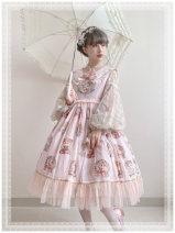 Dress Autumn of 2019 Pink, grayish blue, beige S,M,L