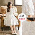Dress Spring and autumn collection of white lace princess skirt female EC.Song/ Sonich Cotton 65% other 35% spring and autumn Korean version Long sleeves Solid color cotton A-line skirt YQ-F3951 Class B Winter 2020 Chinese Mainland Guangdong Province Guangzhou City